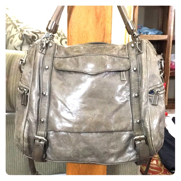 Rebecca Minkoff Handbags - 💕Rebecca minkoff soft leather gray satchel bag 💕